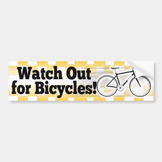 Watch Out for Bicycles Car Bumper Sticker Decal