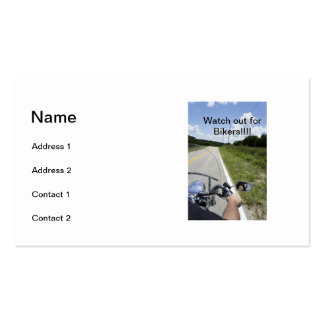 Watch out for Bikers Business Cards