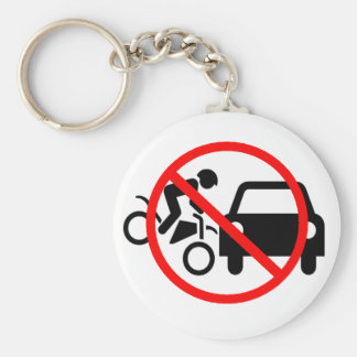 Watch Out For Motorcycles Key Ring