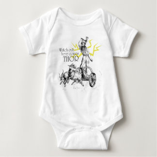 Watch Out, Here Comes Thor! Baby Bodysuit