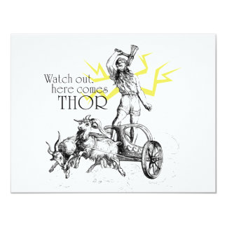 Watch Out, Here Comes Thor! Invitation