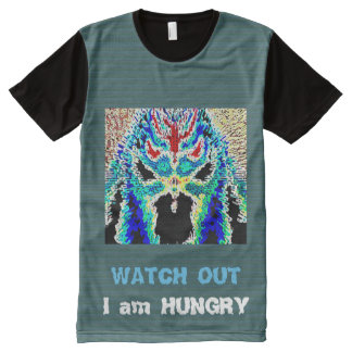 Watch out I am Hungry - Scull Hungry Cartoon favor All-Over Print T-Shirt
