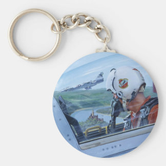 Watch Over the Rhine by Ken Riley Basic Round Button Key Ring
