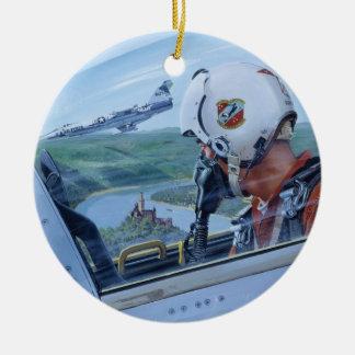 Watch Over the Rhine by Ken Riley Round Ceramic Decoration