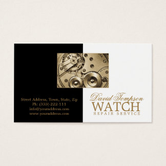 Watch Repair Service Watchmaker Black & White Card