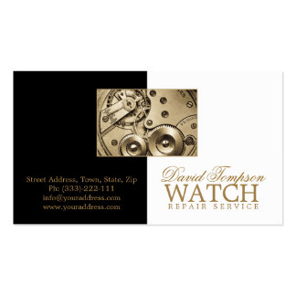 Watch Repair Service Watchmaker Black & White Card Pack Of Standard Business Cards