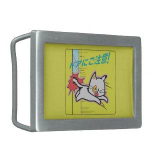 Watch the Door, Subway Sign, Japan Rectangular Belt Buckles