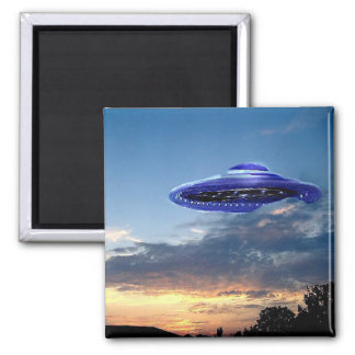 Watch the Skies, UFO - Square Magnet