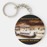 Watch The Tram Car Please Basic Round Button Key Ring