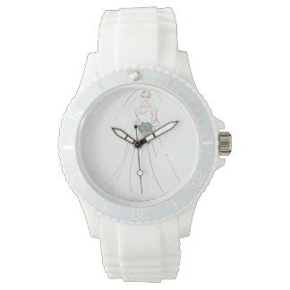 Watch, white, sporty, silicon, cutstom watch