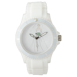 Watch, white, sporty, silicon, cutstom wrist watches
