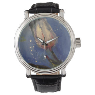 Watch with a tulip