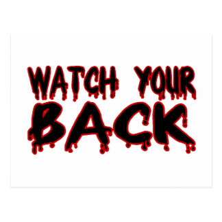 Watch Your Back Postcard