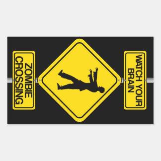 Watch Your Brain - Zombie Crossing Sticker