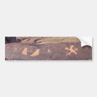 Watch Your Step American petroglyph Bumper Sticker