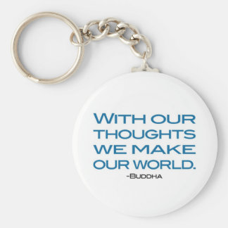 Watch Your Thoughts (be the Buddha) Basic Round Button Key Ring