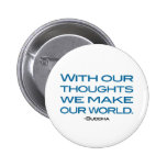 Watch Your Thoughts (be the Buddha) Pinback Button