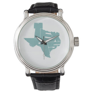 Watches with Turquoise Texas State Map
