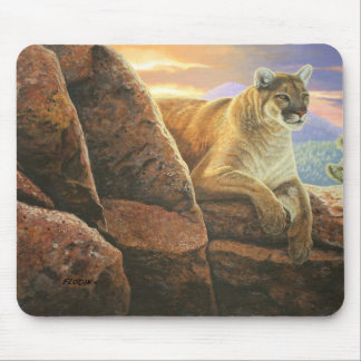 """Watchful"" Cougar - Mouse Mat"
