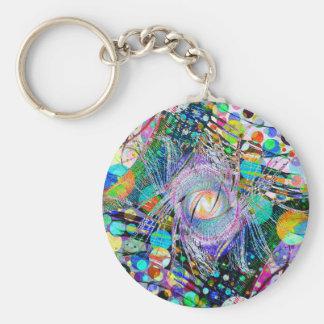 Watchful Eye Basic Round Button Key Ring