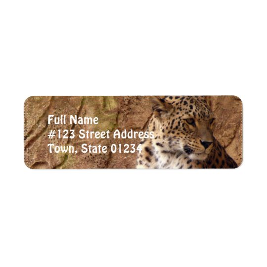 Watchful Leopard Return Address Label