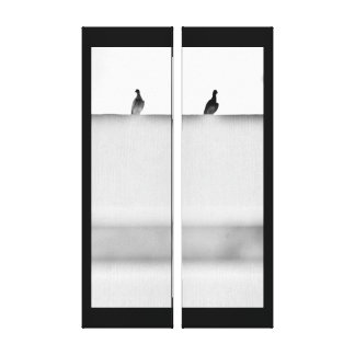 Watchful Pigeons Canvas Print