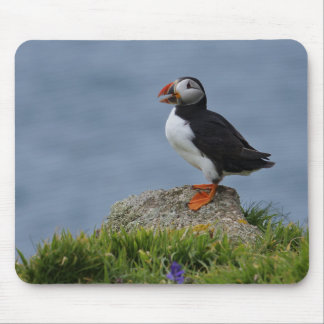 Watchful Puffin Mouse Mat