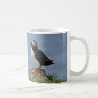 Watchful Puffin Basic White Mug