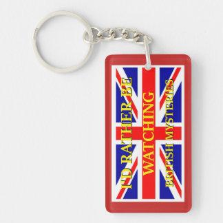 Watching British Mysteries! Key Ring