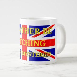 Watching British Mysteries Large Coffee Mug