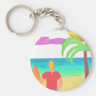 Watching for Waves Key Ring