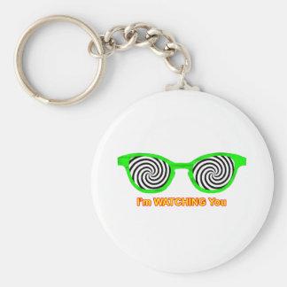 Watching Hypnotize Sunglasses Green Rim The MUSEUM Key Chain