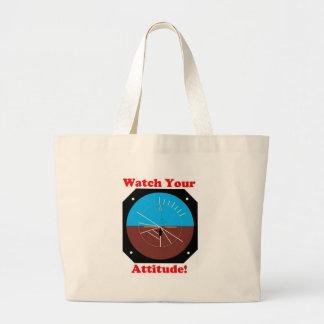 WatchYour Attitude Jumbo Tote Bag