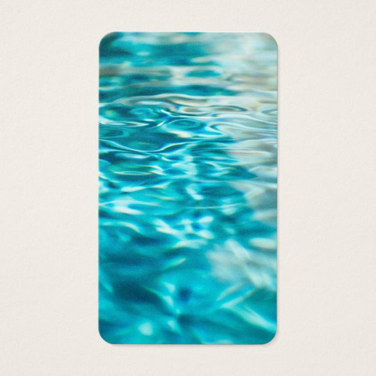 Water Abstract Blue Green Turquoise Aqua Sea Business Card