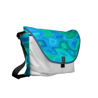 Water Abstract Design Courier Bags