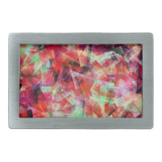 WATER ABSTRACT RECTANGULAR BELT BUCKLE
