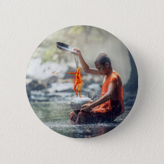 Water and Fire 6 Cm Round Badge