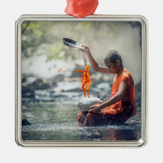 Water and fire christmas ornament