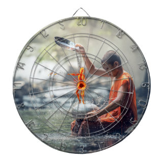 Water and Fire Dartboard