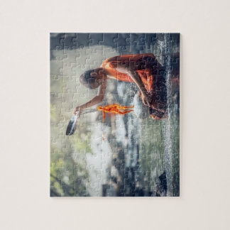 Water and fire jigsaw puzzle