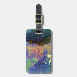 water and kelp luggage tag