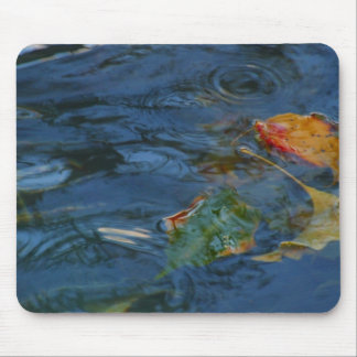 Water and Leaves Mousepad