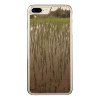 Water and paddy field carved iPhone 7 plus case