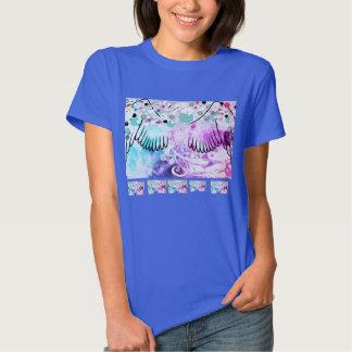 Water angel wing splash t-shirt