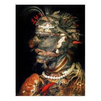 Water - Arcimboldo s bizarre head profile Postcard