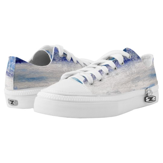Water Art  Custom Zipz Slip On Shoes Printed Shoes