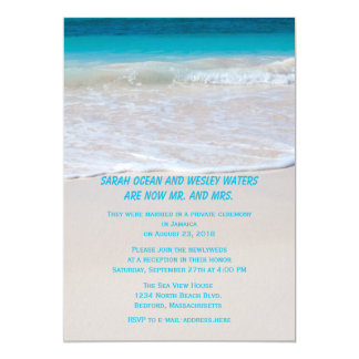 Water at the Shore Reception Only 13 Cm X 18 Cm Invitation Card