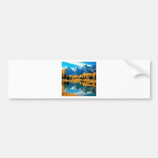 Water Autumn Grand Teton National Park Bumper Stickers