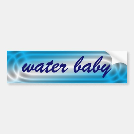 Water Baby Bumper Sticker