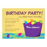 Water Balloon Party Invitation